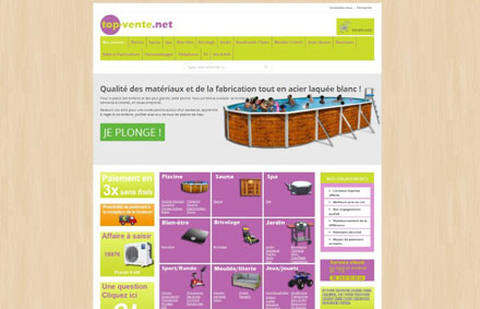 Top Vente - site e-commerce